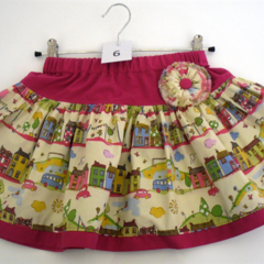 BOO! Twirly Skirt - Size 6 - Little Houses