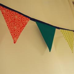 Handmade Fabric Flag 'Sweet Sherbet' Bunting