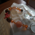 Crystal SALE..orange Gemstone Suncatcher Carnelian Howlite Coral