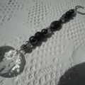Crystal Cleansing SALEblack Gemstone Sun Catcher Tourmaline Lava Hematite Pearl