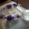 Crystal Sparkle SALE purple Gemstone SunCatcher Fluorite Amethyst Alexanderite