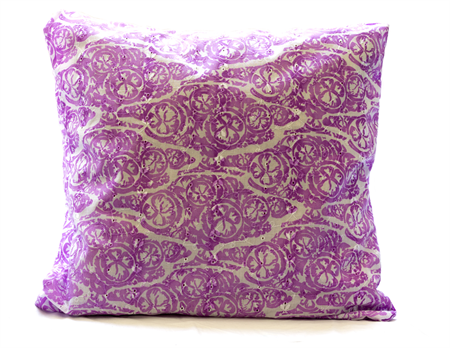 Hand-Printed Throw Cushion