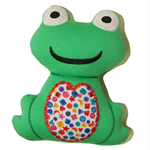 Green Frog Squeaker Toy