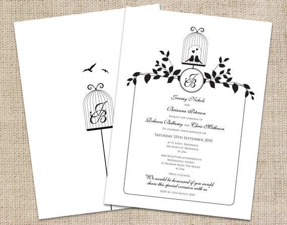 printable love bird wedding invitations - new wedding, Wedding invitations