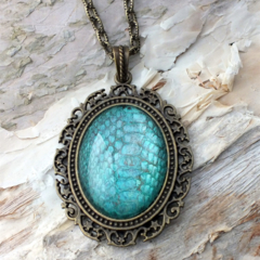Dragon Scales - REAL snake shed necklace
