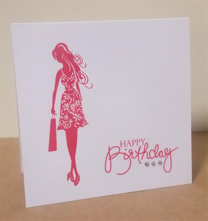 Set Of 4 Hand Stamped Birthday Cards Fashionista Avaday