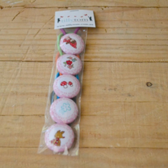5 pack of ponytail holders - Red Riding Hood Pink