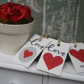 12 Valentine's Day Gift Tags Florist Gift Tags Biscuits Gift Tags Wedding Tags