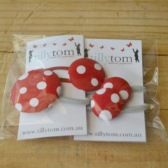 Hair Accessory Gift Pack - Red Spot
