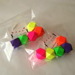 Wood Bead Necklace - Neon 1