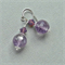 Amethyst, Swarovski and Sterling Silver Earrings