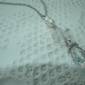 One & Only Love..SALE brides necklace wedding Freshwater Pearls crystal pendant