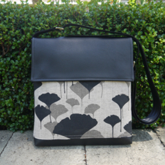 Satchel - Ginkgo - Black and Greylead - Free Shipping