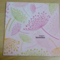 Female Happy Birthday card with modern flower print