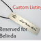 Reserved for Belinda