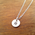 Custom Initial Drop Necklace - Silver