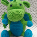 Dragon Toy, animal softie, boy gift, crochet soft toy