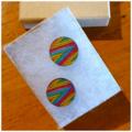 Laser Cut Wooden Stripe Earrings