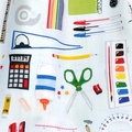 Colourful School Stationery Bag. Makes a Great Craft Bag or Library Bag!