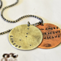 Zodiac Constellation Necklace Zodiac Traits Star Sign Birth Sign Mixed Metal