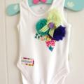 Flower Garden Baby Onesie Baby Romper Baby Girl