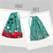 Drawstring Bag. Two Sided. Gorgeous Lotus Flowers. Floral. Teal Turquoise Maroon