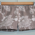 Girls Shorts. Baby Shorts. Toddler Shorts. Floral Brown & White. Sizes 0-3M-7Yrs
