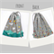 LAST ONE! Double Sided Drawstring Bag. Beautiful Lotus Flowers. Floral Grey Teal