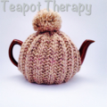 Grey Tea Cosy with Purple flecks