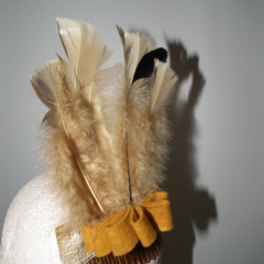 Hiawotha Indian SALE  costume fancy-dress headdress feathers brown mustard felt