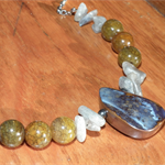 Rivers Run Wild...SALE Aussie Opal Laboradite Fire Agate Hematite Necklace