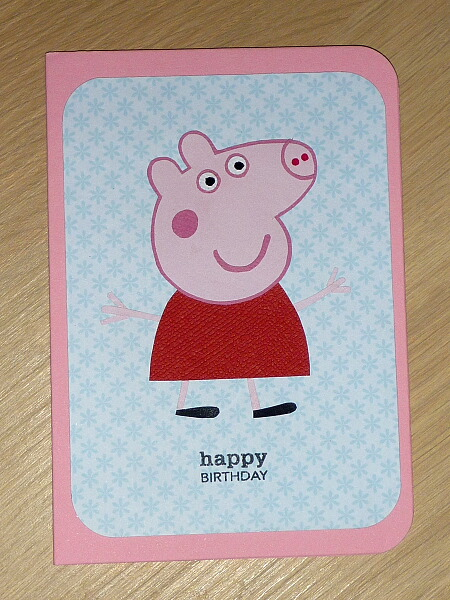 Girls Happy Birthday Card Peppa Pig 1st 2nd 3rd 4th 5th 6th