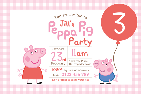 Printable custom birthday party invitation peppa pig george printable custom birthday party invitation peppa pig george filmwisefo Image collections