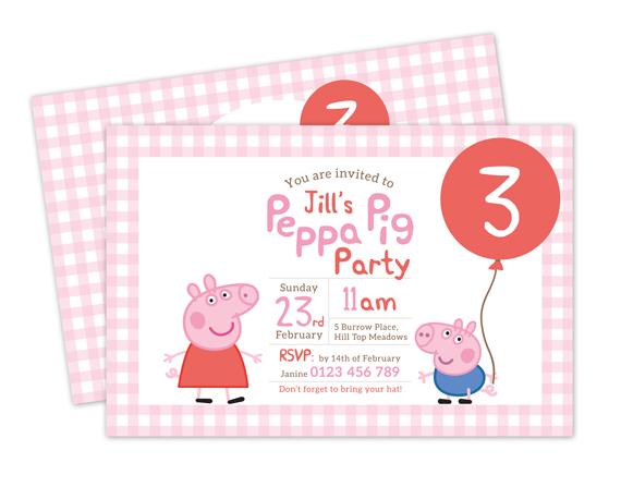 picture regarding Peppa Pig Printable Invitations known as Printable Personalized Birthday Get together Invitation - Peppa Pig