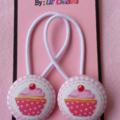 PINK CUPCAKES: Baby/Girls elastic hair ties