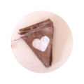 CARDS Love Heart Wedding Wishing Well Hessian Burlap bunting decoration