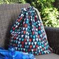 Fully Lined Wet Bag / Library Bag. Large Swim Bag. City Buildings Houses.