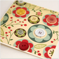 Buttons Blank card   We Love Buttons   Limited Edition   Thinking of You