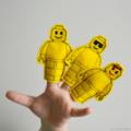 Yellow Lego Felt Finger Puppet Set