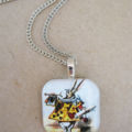 White Rabbit Pendant Necklace