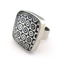 Black and White Geometric Ring
