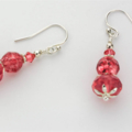 Sterling Silver and Strawberry Bead Bracelet with Matching Earrings
