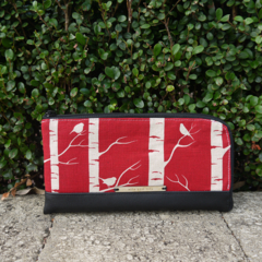 Custom Order for Tasma -Wallet - Birch Forrest - Deep Red