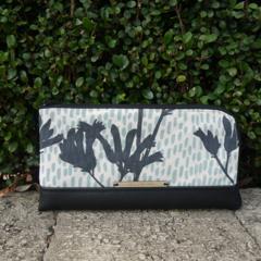 Wallet - Kangaroo Paw - Charcoal & Sage