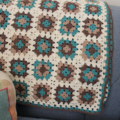 Crocheted baby blanket  - Pure wool