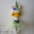 Fabric Unicorn Soft Doll Toy