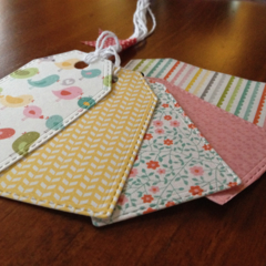 Handmade 5 pack of Gift Tags