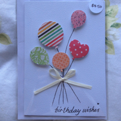 Handmade Birthday Ballons Card