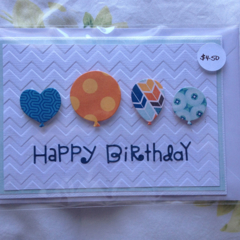 Handmade Birthday Balloons Card