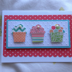 Handmade Birthday Cupcake Card